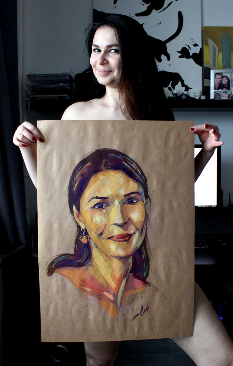 портрет дружини