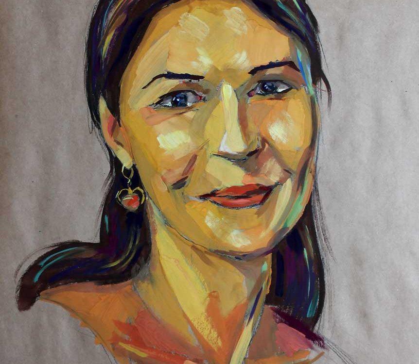 portretas žmona