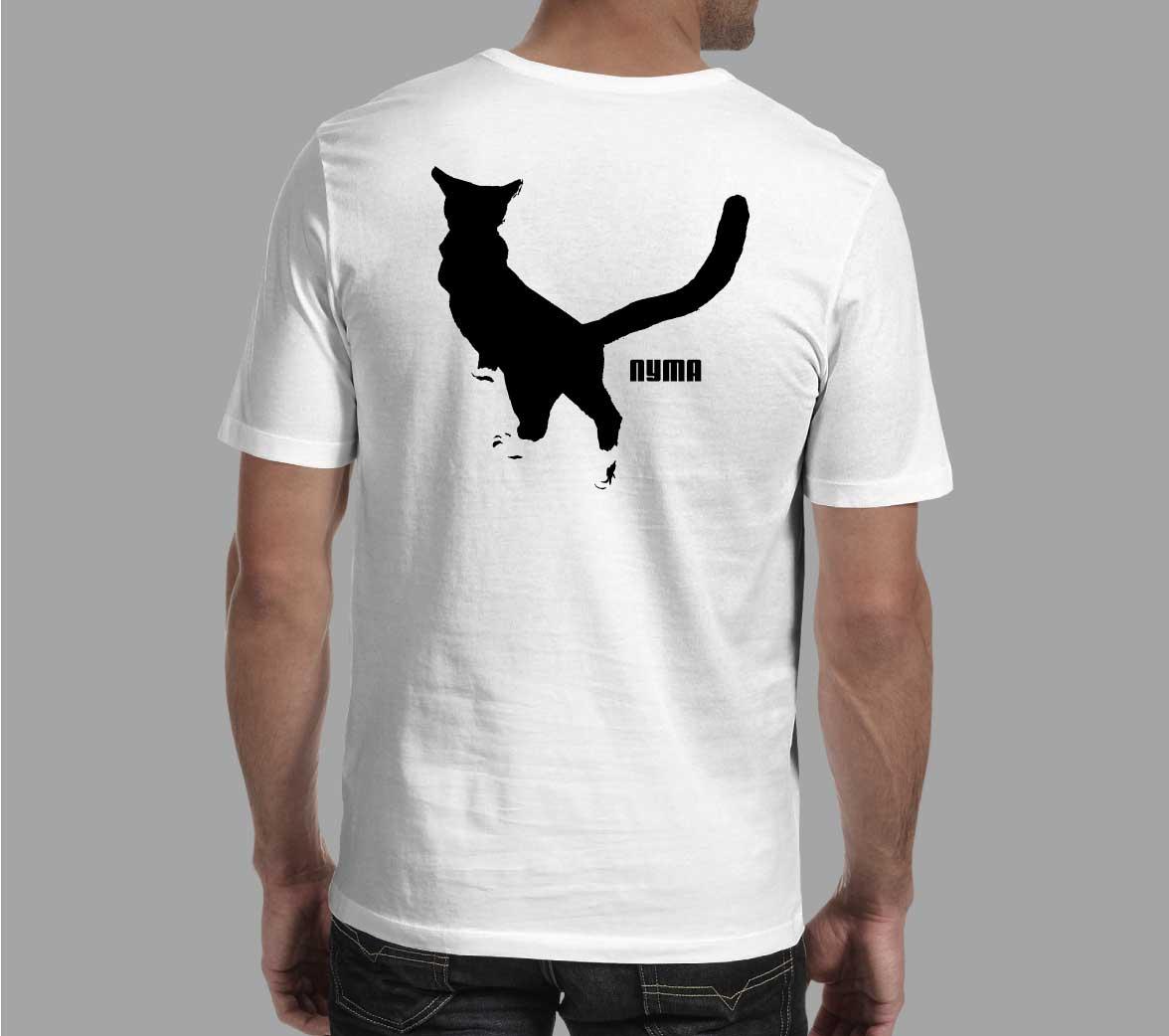 Дизайн футболки с котом