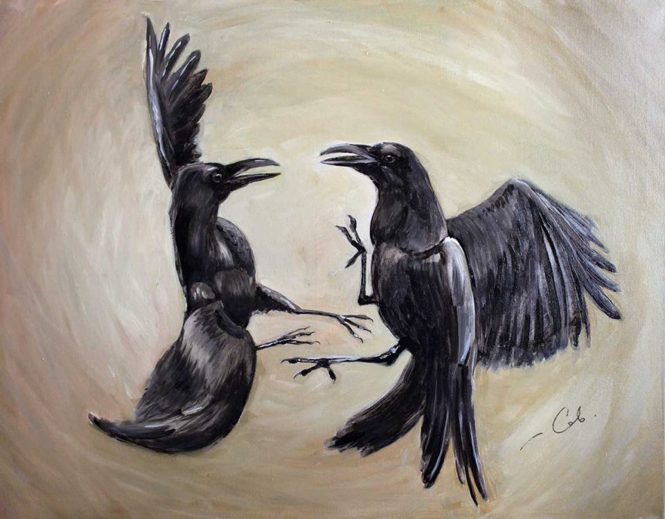 Painting Crows Oil